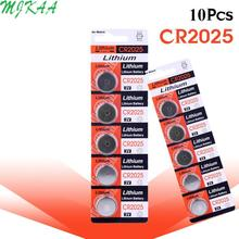 10pcs/pack CR2025 3V Lithium Coin Cells Button Battery BR2025 DL2025 KCR2025 2025 L12 EE6226