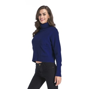 Image 5 - INSINBOBO Turtleneck solid Women Sweaters Pullovers Loose Knitted Autumn Winter Clothing Casual Pullovers