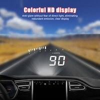 X5 carro hud obd ii head up display sistema de aviso de excesso de velocidade projetor pára brisa automático alarme de tensão eletrônica|Visor 'head-up'| |  -