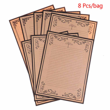 Letter Paper Stationery Envelopes Vintage-Style Writing European 8-Sheets/Set Office-Supplies