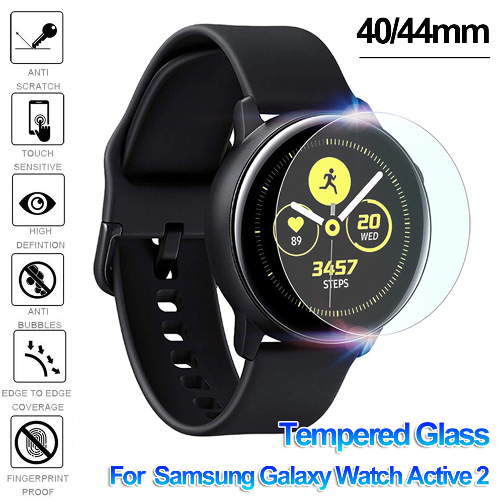 Tempered Glass Screen Protectors Guard Film Protective Skin Smart Watch Cover Skin For Samsung Galaxy Watch Active 2 40mm 44mm