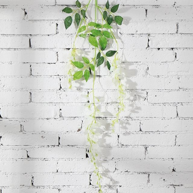 175CM Wisteria Vine Artificial Flowers Silk Garland Arch Wedding Decoration home garden decoration hanging plant wall decor