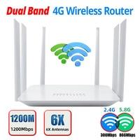 LT260 2.4G 5.8G 1200Mbps CAT6 32 utenti Wifi Router 4G Hotspot Wifi portatile RJ45 WAN LAN Modem Wireless 4G SIM Card Router Wifi