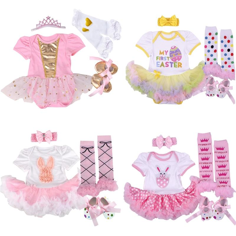 Вечерние платья, костюм Одежда для маленьких девочек, детская одежда; Детский Комбинезончик для новорожденных пасхальное платье для девоче...