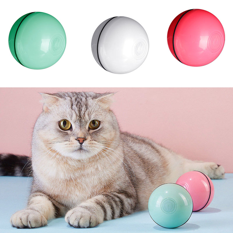 Bola recarregável de brinquedo para gatos, brinquedo interativo com luz led, recarregável por usb