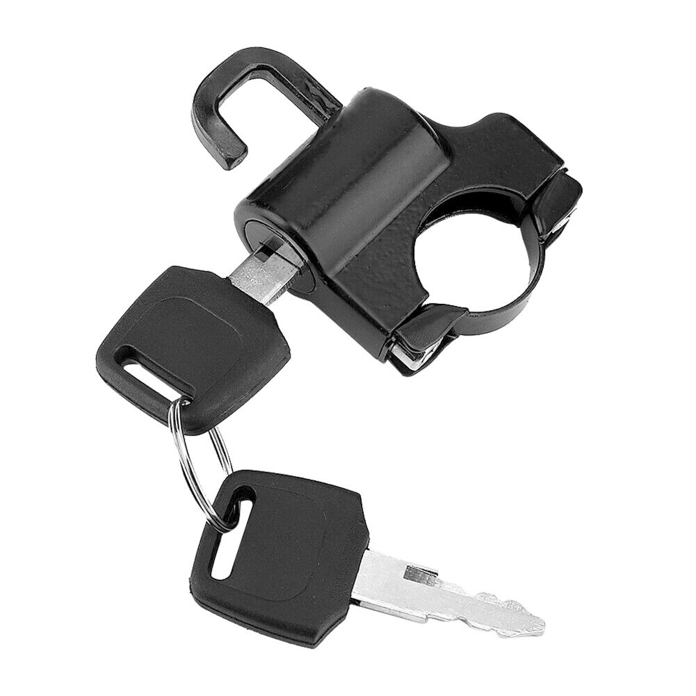 Universal Motorcycle Helmet Lock 22mm Handlebars Helmet Security Lock Padlock With 2 Keys Motorcycle Accessories