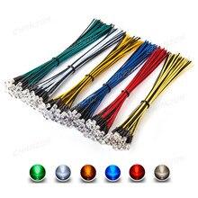 Kit de diodo LED precableado, 12V, Blanco cálido, rojo, verde, azul, amarillo, Cable precableado, surtido de bombillas, 5mm, 120 Uds.