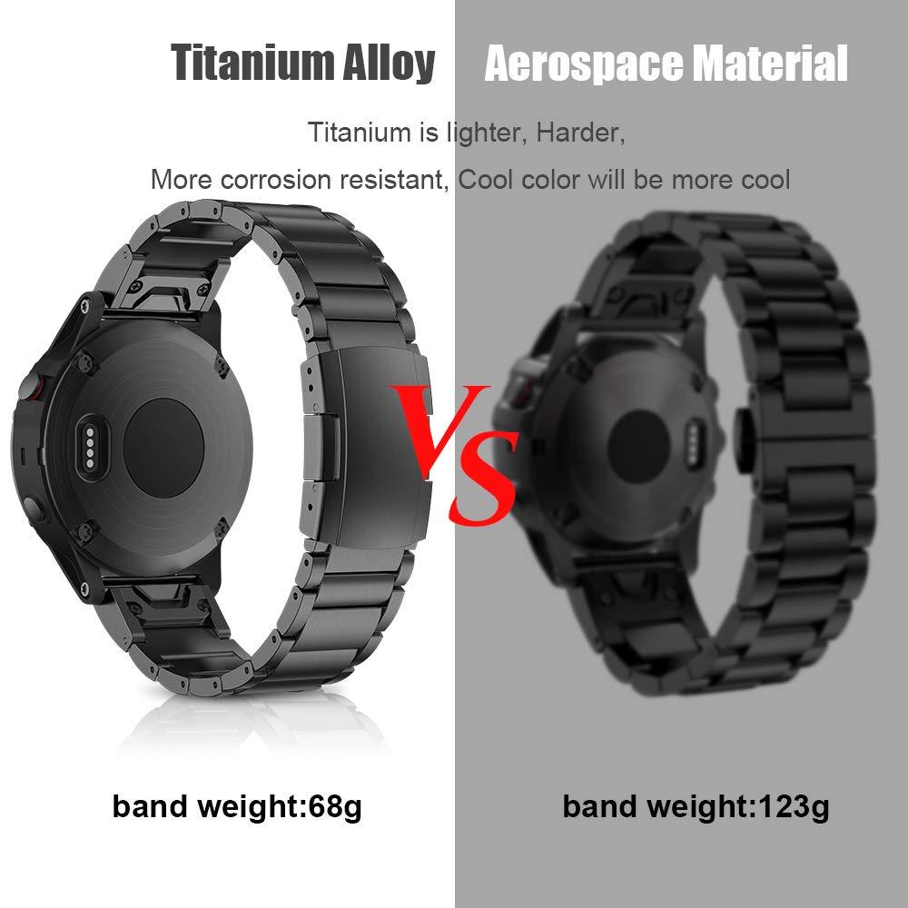 22mm avec bracelet de montre pour Garmin Fenix 5/5 Plus/Fenix 6/6 Pro/Forerunner 935 bande en alliage de titane Qiuk pour bracelet Garmin