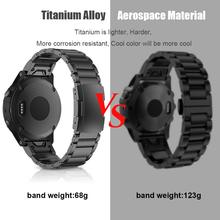 Titanium Alloy Qiuk Fit Watch bands Replacement for Garmin Fenix 6/Fenix 6 Pro/Fenix 5/Fenix 5 Plus/Foreruner 935 Smart Watches цена и фото