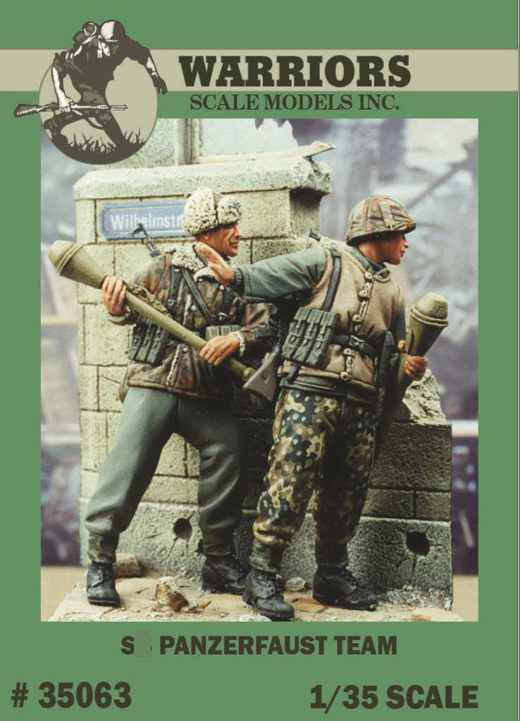 1/35 German Panzerfaust Team (2 Resin Figures Kit/Set,no Wall) WARRIORS #35063