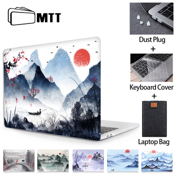 MTT Ink Painting Case For Macbook Air 11 13.3 Pro Retina 13 15 16 Laptop Sleeve for apple mac book Hard Cover 12 inch Laptop Bag huevm leather sleeve bag stand cover for apple macbook air retina 11 12 13 15 laptop case for new pro 13 3 inch air 13 3 inch