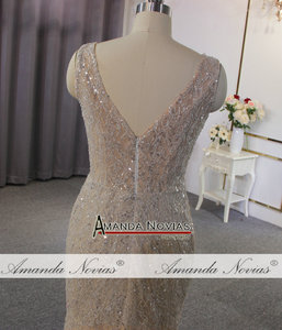 Image 4 - Vestido de novia de estilo playero champán, sexy, transparente