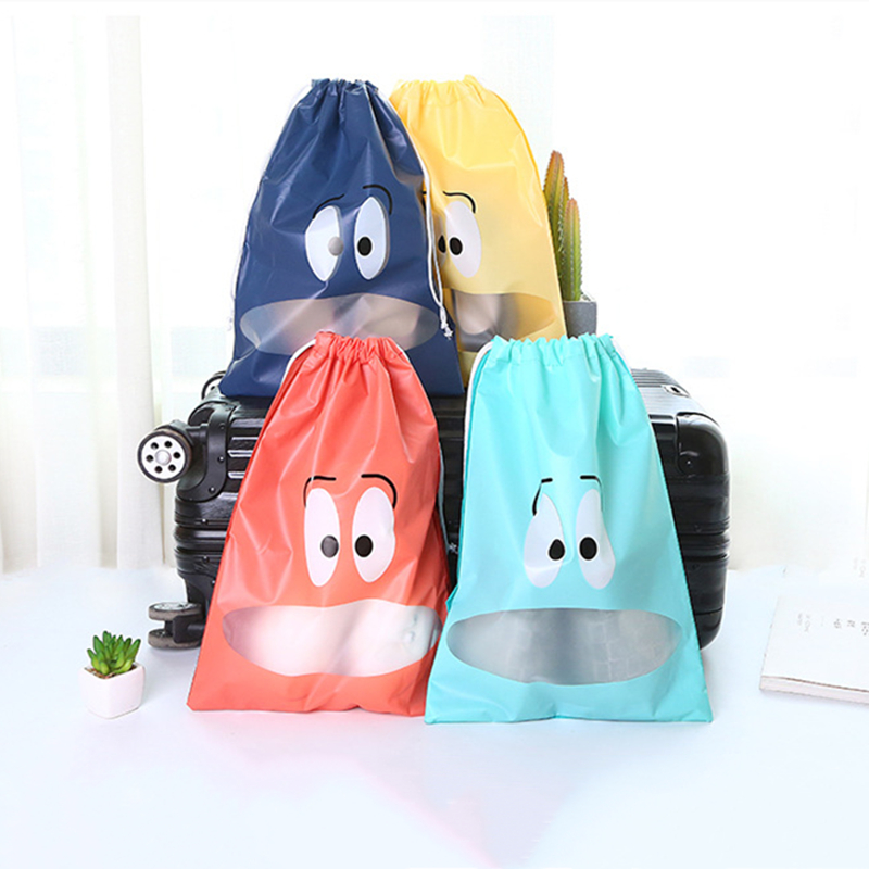 2 Sizes Waterproof Shoes Bag For Travel Portable Shoe Storage Bag Organize Non-Woven Tote Drawstring Bag Dolap Organizer