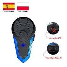 Fodsports BT S3 motorcycle helmet intercom 1000M wireless bluetooth headset waterproof BT interphone intercomunicador moto FM
