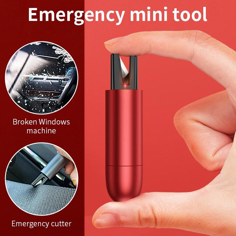 Car Safety Hammer Mini Safe Emergency Hammer Tool Seat Belt Cutter Window Glass Breaker Auto Life-Saving Escape Emergency Tool
