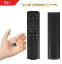 G20S Air Mouse 433mhz voix télécommande avec Gyroscope universel 2.4G sans fil Mini clavier PK G10 pour Android TV Box PC