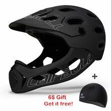Ultraleve montanha bicicleta capacete para baixo colina rosto cheio capacete inte-moldado trilha bmx ciclismo capacetes cairbull mtb tt capacetes