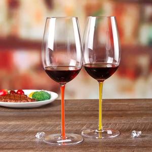 Image 3 - ハイエンドブルゴーニュ赤ワインガラスクリスタルガラスビッグベリーゴブレットボルドーシャンパンガラスの高級結婚式の宴会のトーストガラス