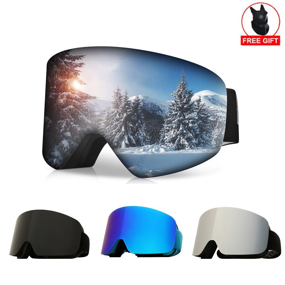 Professional Ski Glasses Men Women Anti-fog Cylindrical Snow Skiing Goggles UV Protection Winter Adult Sport Snowboard Gafas Ski