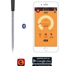 Беспроводной термометр для мяса, еды, стейка, для духовки, гриль, барбекю, курильщик, гриль, кухня, умный цифровой Bluetooth, принадлежности для ба...