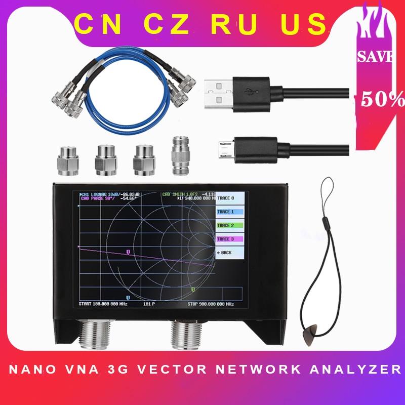 Nano VNA 3G векторный сетевой анализатор SAA-2N V2 антенный анализатор коротковолновый HF VHF UHF с железным корпусом экран 4,0 дюйма