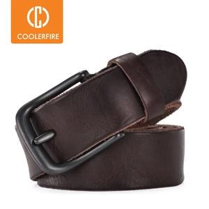 Image 1 - Rugged full grain leather belt man casual vintage belts men genuine vegetable tanned cowhide original strap male girdle TM007