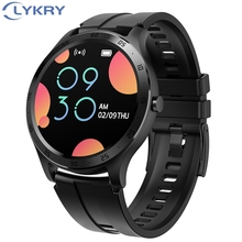 LYKRY חכם שעון S20 גברים נשים מלא עגול מגע מסך IP67 Waterproof קצב לב צג ספורט שעונים עבור אפל Xiaomi כבוד