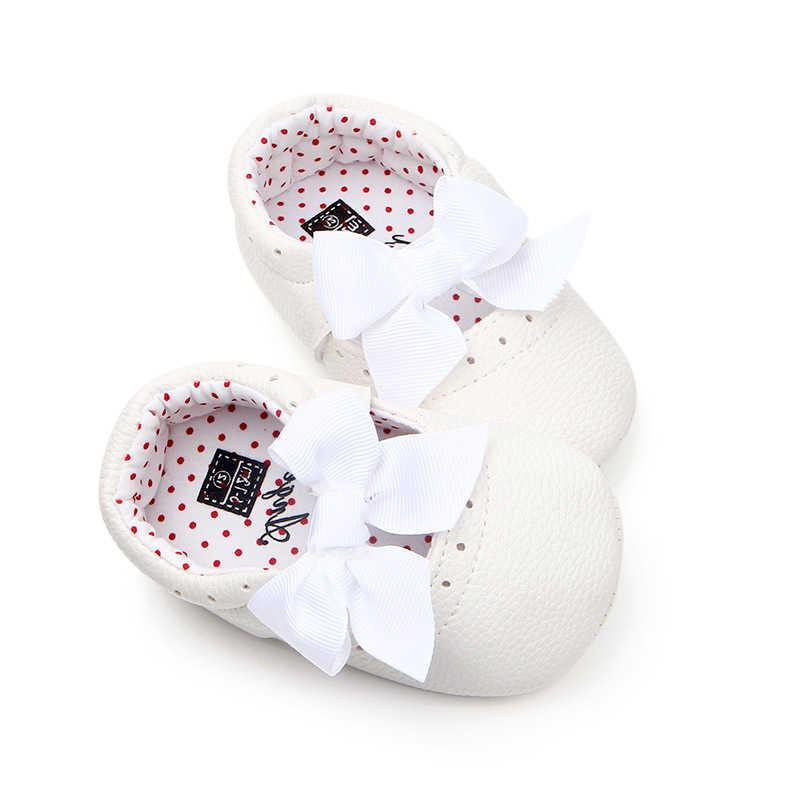 เด็กเล็กรองเท้าเด็กวัยหัดเดินรองเท้า Pu หนังรองเท้า 0-18M Scarpe Bambina Buty Dziewczynka
