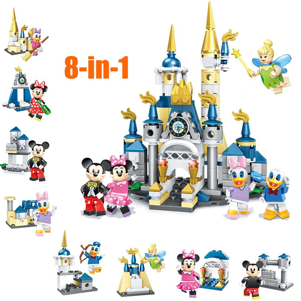 Mickey Duck Daisy Tinker Bell Building Blocks Bricks Model Assembled Set Toys