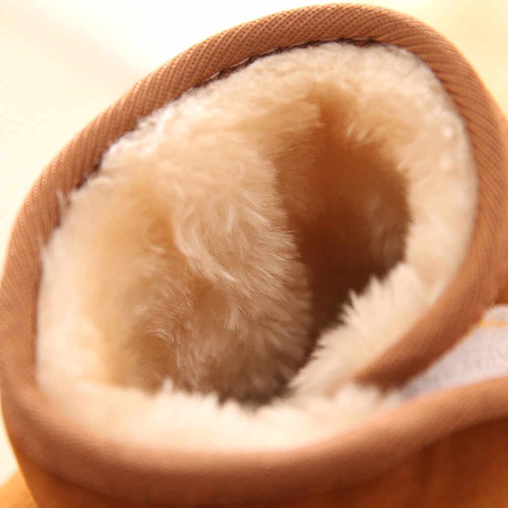 Mùa Đông Cho Bé Con Cotton Phong Cách Khởi Động Ấm Ủng Mềm Trơn Giày Cao Su Cho Trẻ Em Chống Trơn Trượt bán Chạy Mềm 2019