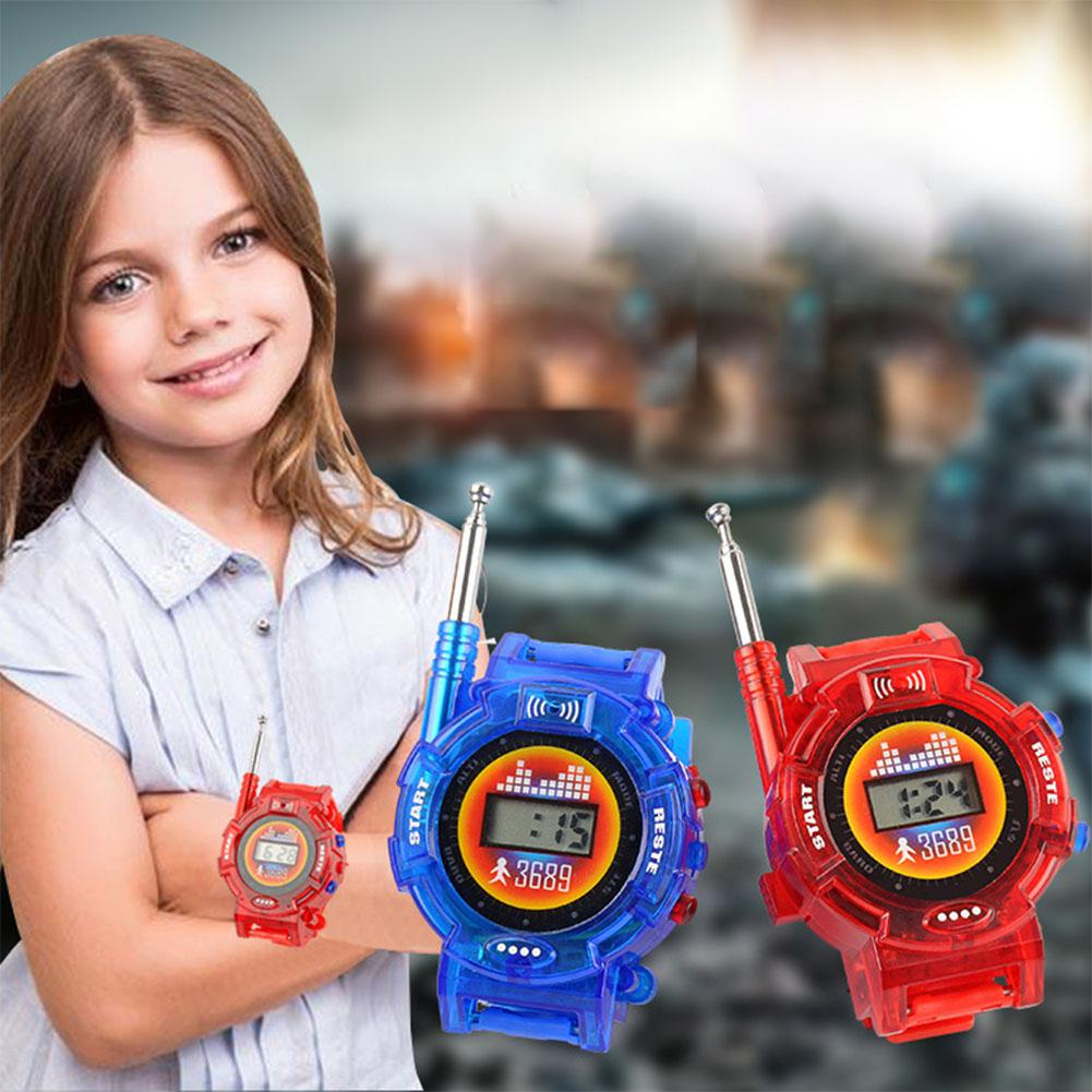 1 Pairs Children Toy Walkie Talkie Child Wrist Watches Real Time Display Interphone