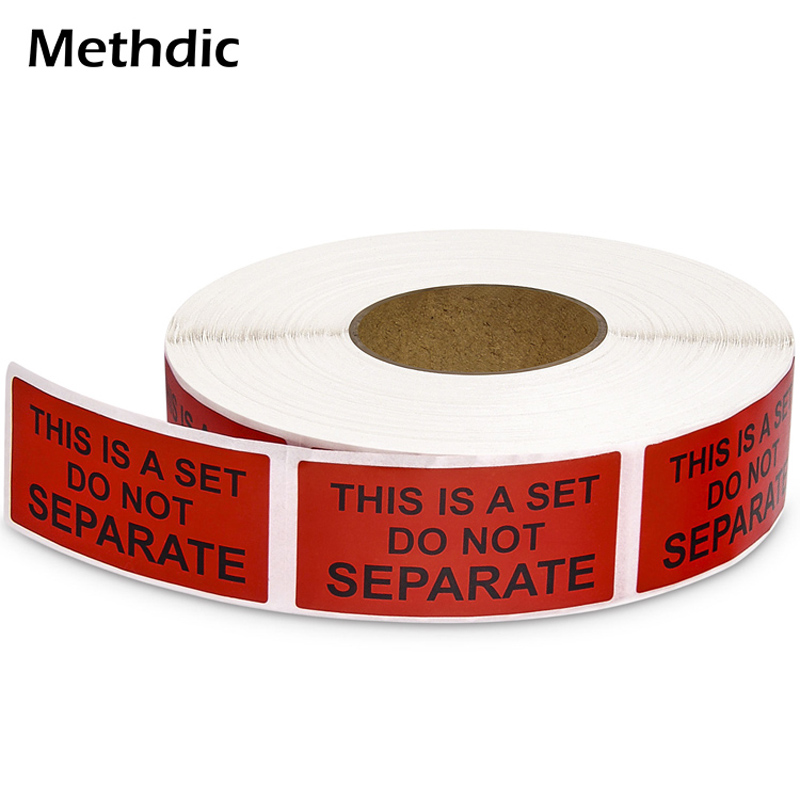 Methdic 1000 Labels Self-Adhesive Stickers Fragile Stickers For Moving