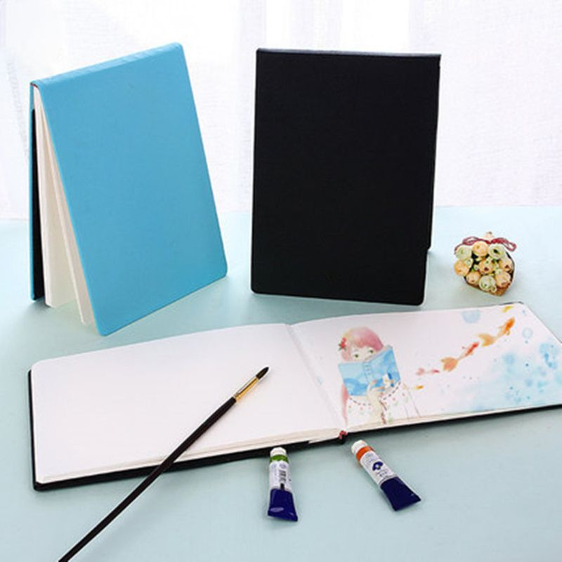 300g/m2 PU Leather Cover Professional Watercolor Paper Book Hand Painted Sketch Travel Painting Art Supplies