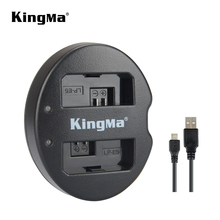 KingMa لكانون LP E5 شاحن بطارية USB شاحن مزدوج لكانون EOS 450D 500D 1000D 2000D KISSX2 KISSX3 كاميرات