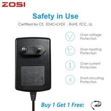 ZOSI تيار مستمر 12 فولت 2A الاتحاد الأوروبي الولايات المتحدة الاتحاد الافريقي المملكة المتحدة CCTV فيديو موائم مصدر تيار شاحن ل BNC كاميرا الأمن في الهواء الطلق نظام مراقبة بالفيديو