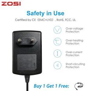 Image 1 - ZOSI تيار مستمر 12 فولت 2A الاتحاد الأوروبي الولايات المتحدة الاتحاد الافريقي المملكة المتحدة CCTV فيديو موائم مصدر تيار شاحن ل BNC كاميرا الأمن في الهواء الطلق نظام مراقبة بالفيديو