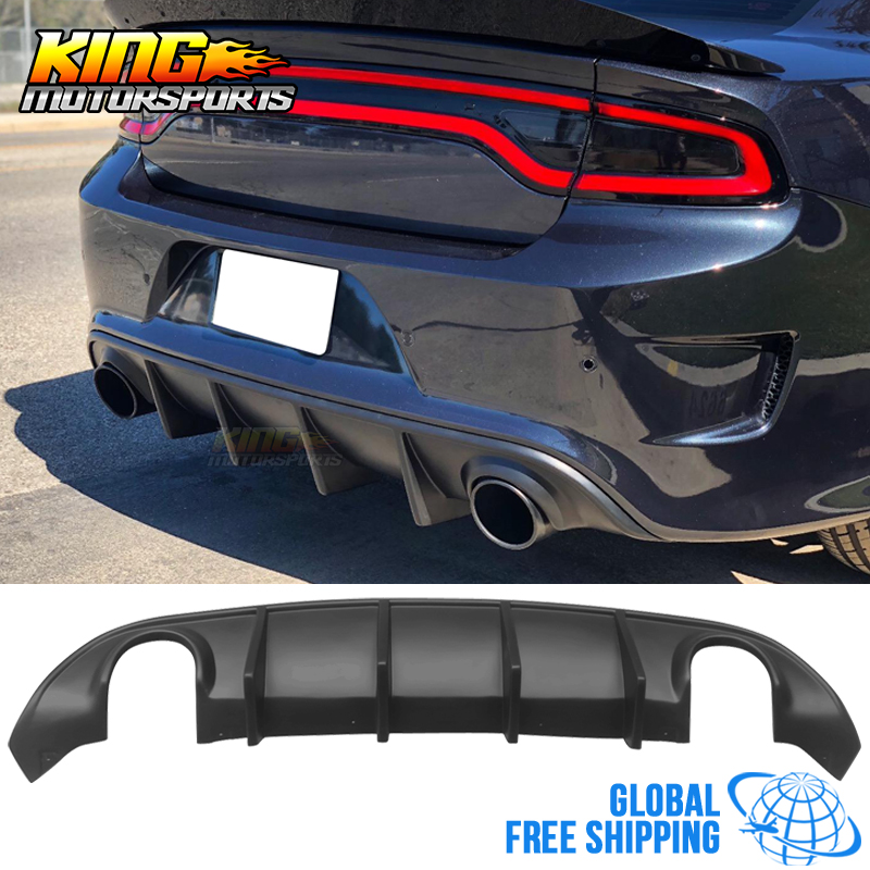 Fit For 2015 2019 Dodge Charger SRT OE Style Rear Diffuser Bumper Lip Unpainted Black PP Global Free Shipping Worldwide|Bumpers|Automobiles & Motorcycles - title=