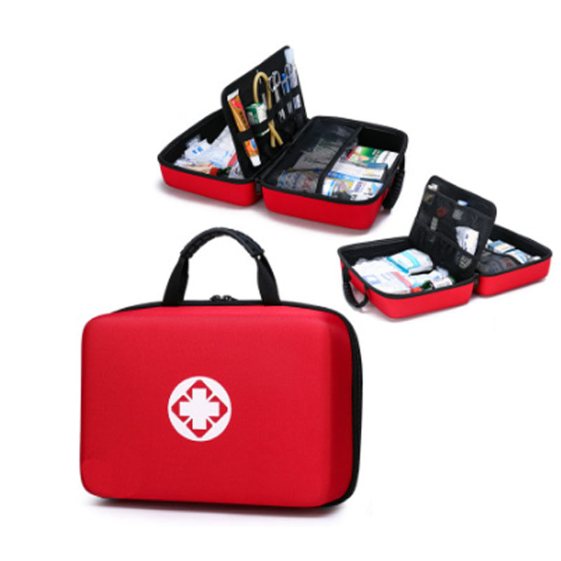 Outdoor First Aid Kit Outdoor Sports Red Nylon Waterproof Cross Messenger Bag Family Travel Emergency Medical Bag LB004