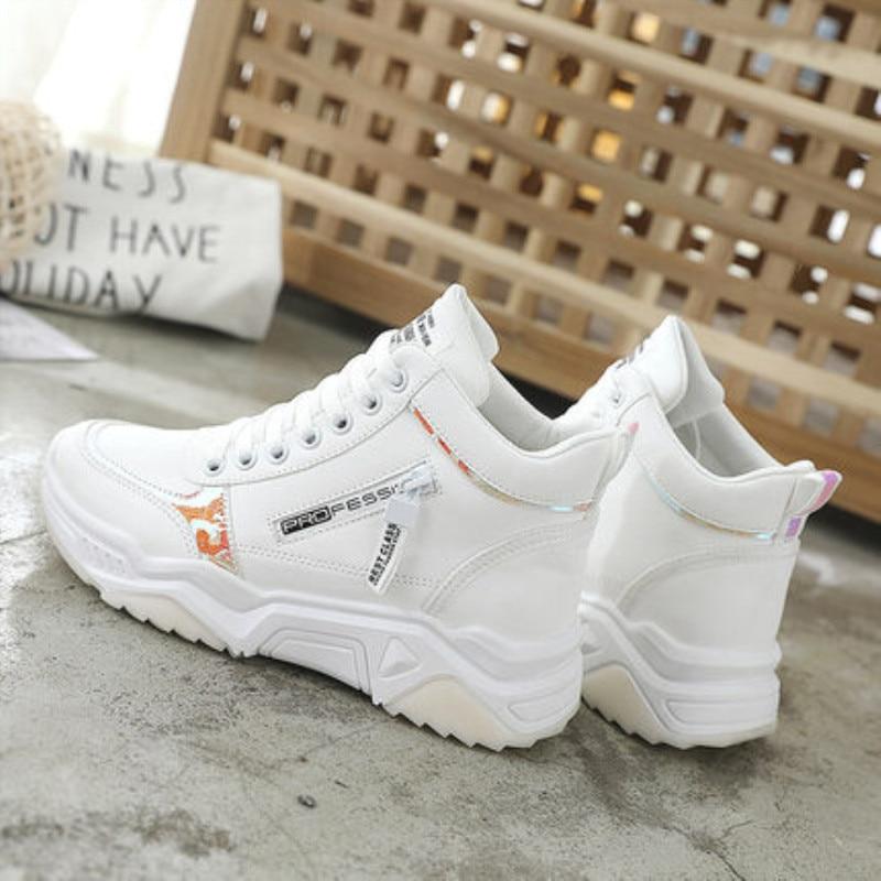 High Top Women Sneakers Ladies Shoes Comfortable Platform Shoes Women Casual Vulcanized Shoes Lace Up Autumn Women Shoes 14