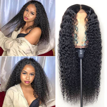 LEVITA kinky curly human hair wigs 4x4 lace closure wig lace front human hair wigs for black women Peruvian Brazilian hair wigs