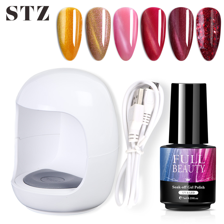 STZ Mini UV LED Lamp Nail Dryer For Single Finger Gel Polish Egg Shape Fast Curing Machine USB Connector Manicure Soak Off #1579