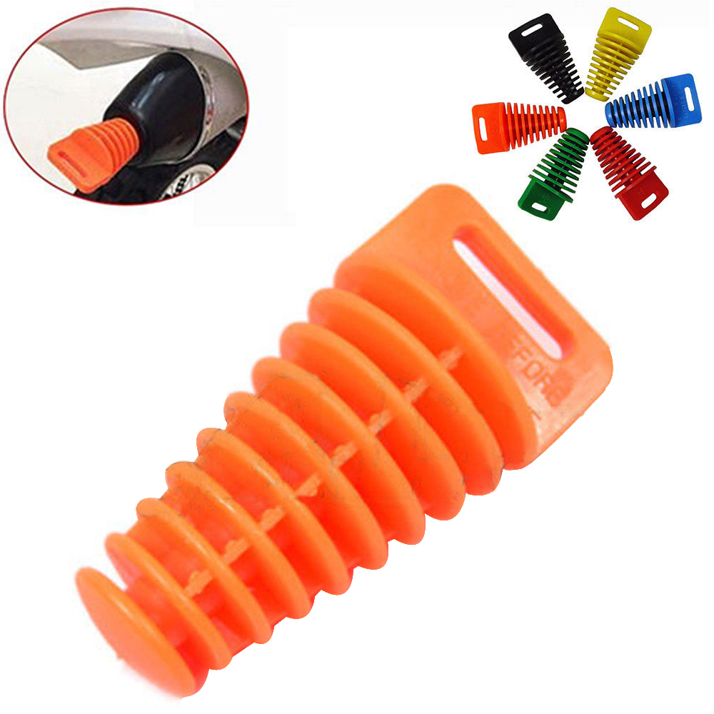 Orange Muffler Tail Pipe Exhaust Silencer Wash Plug Bung for 2 and 4 Stroke Motorcycle Dirt ATV Quad