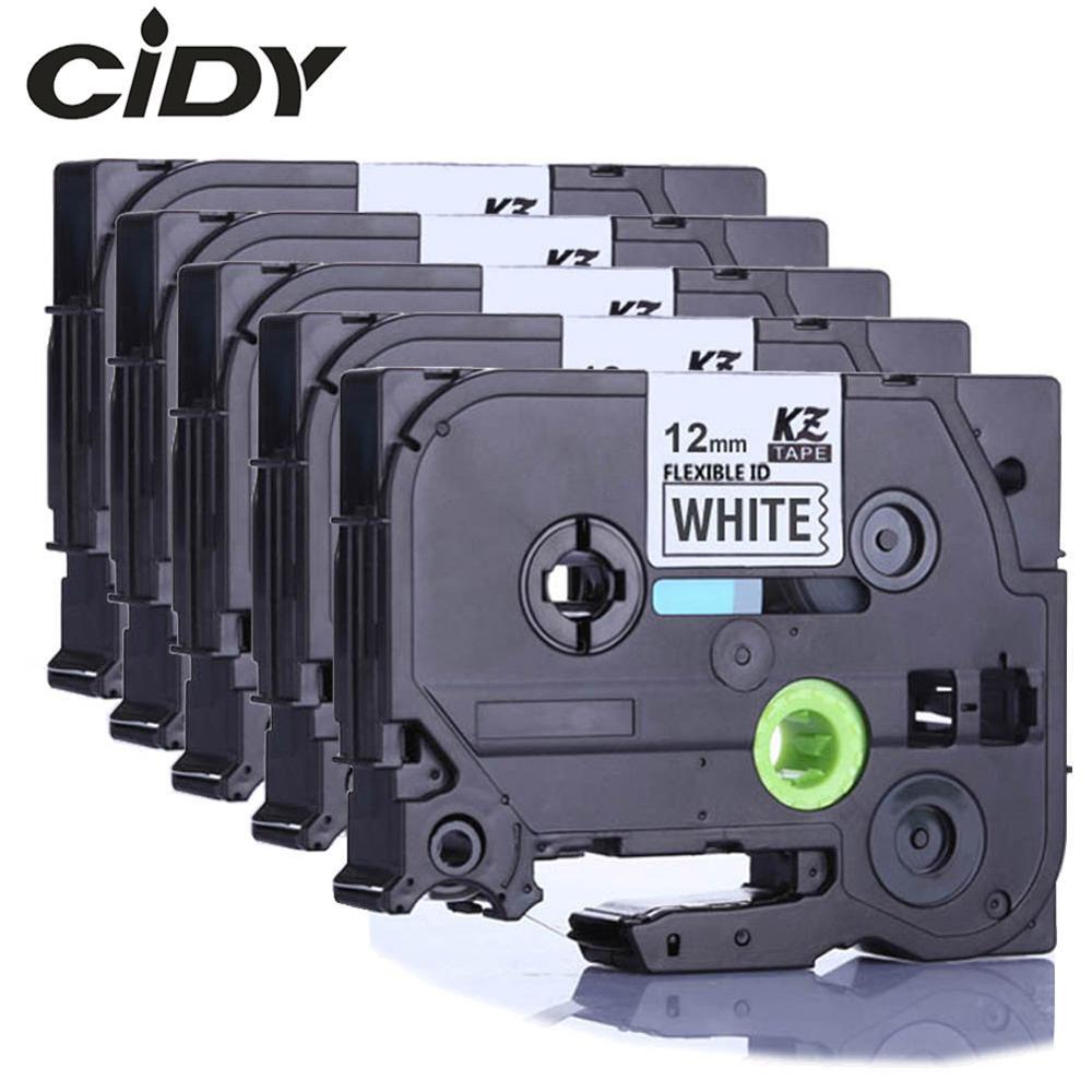 Tze-FX231 CIDY pour frère 12mm noir sur blanc tze bandes d'étiquettes flexibles tze FX231 tz FX231 tz-FX231 pour imprimante brother p-touch
