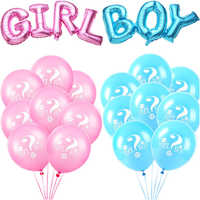 18pcs Boy Or Girl Latex Balloons Printed Birthday Event Party Decoration Baby Shower Gender Reveal Parties Pink Blue