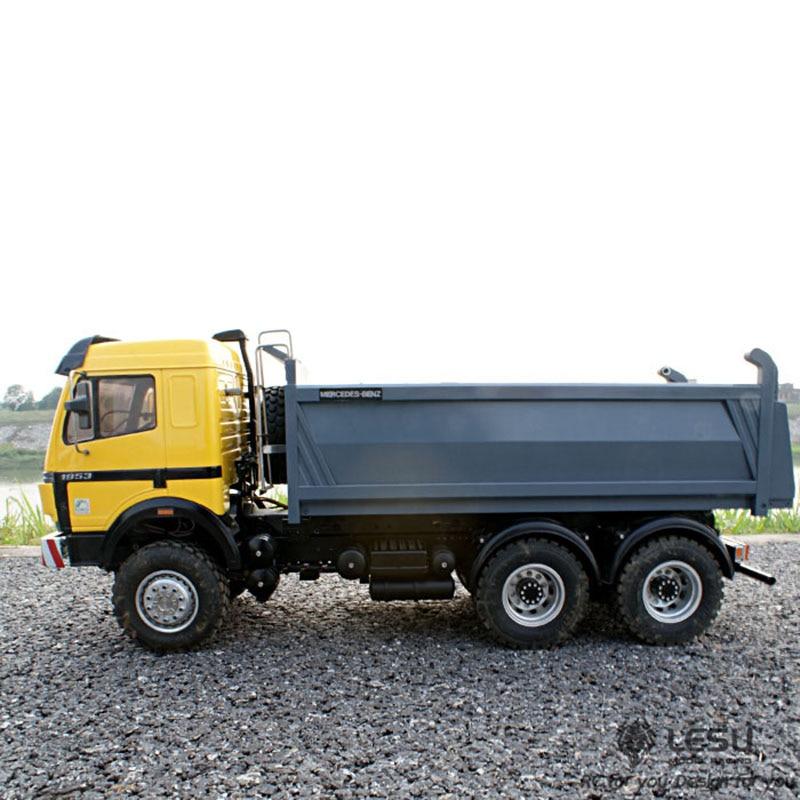 LESU Mercedes Benz 6x6 RC Metal Hydraulic Dumper 1/14 RC Truck Model