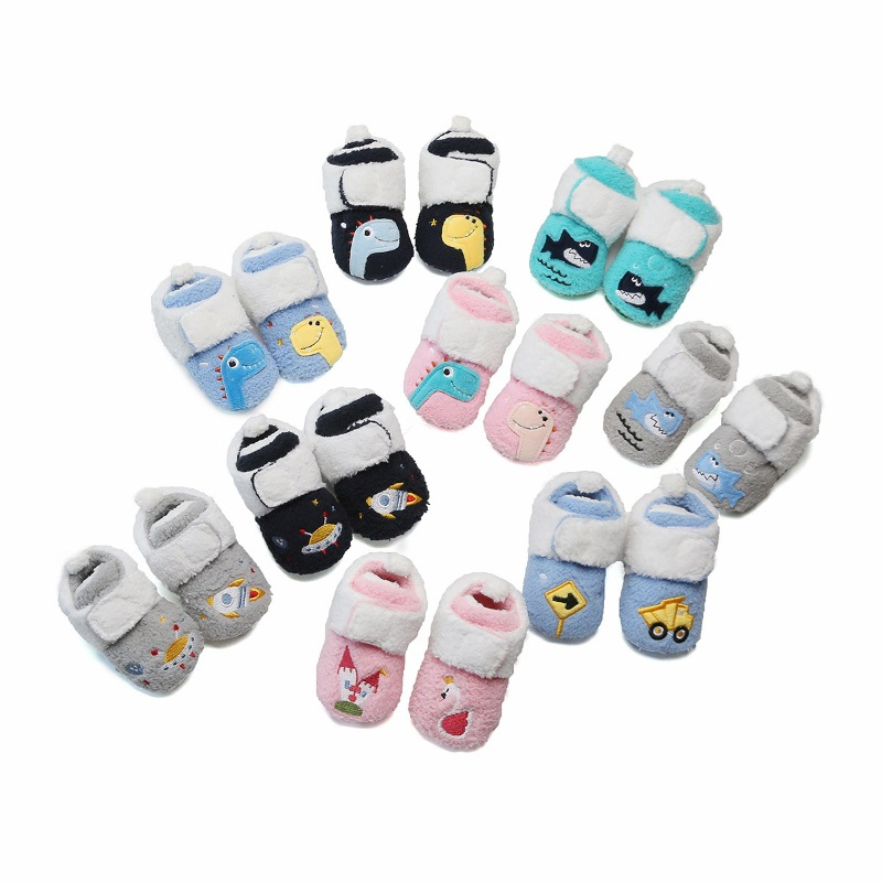 Cartoon Anime Shark Baby Snow Boots For Boys And Girls Fashion Newborn Warm Comfort Infant Toddler Shoes 0-18 Months