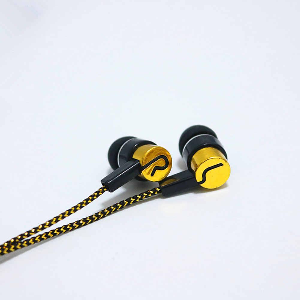 Auriculares con cable con aislamiento de ruido, auriculares con cable, auriculares con cable estándar reflectante de tela en la oreja, sin micrófono de regalo