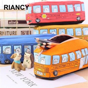 Schule Bus Nette schule stift fall stoff bleistift tasche etui eine buntstifte cuir bleistift beutel stifte tasche bleistift fall schule tasche pl 04972