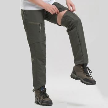 S-3XL odpinane szybkie suche spodnie do wędrówek pieszych męskie ciepłe spodnie trekkingowe spodnie zimowe na świeżym powietrzu spodnie narciarskie spodnie sportowe tanie i dobre opinie WANAYOU Zipper fly CN (pochodzenie) NYLON Pasuje prawda na wymiar weź swój normalny rozmiar Gore tex 81250 Waterproof repellent(Not 100 waterproof)