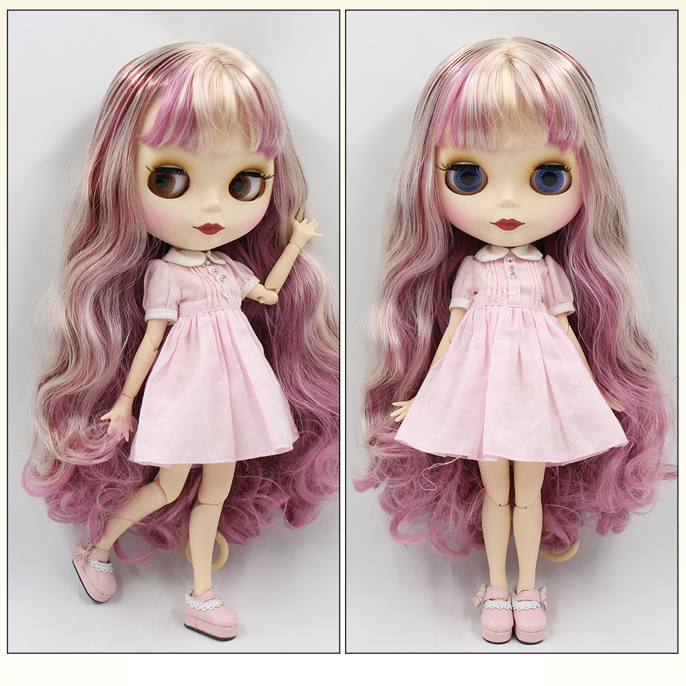 Neo Blythe Doll with Multi-Color Hair, White Skin, Matte Face & Jointed Body 1
